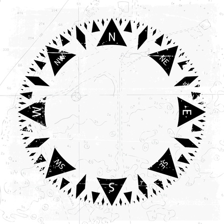 wind rose: Compass wind rose with grunge background