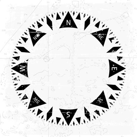 compas de dibujo: Viento del comp�s se levant� con el fondo del grunge