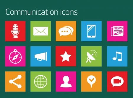 Social media icons Stock Vector - 19841734