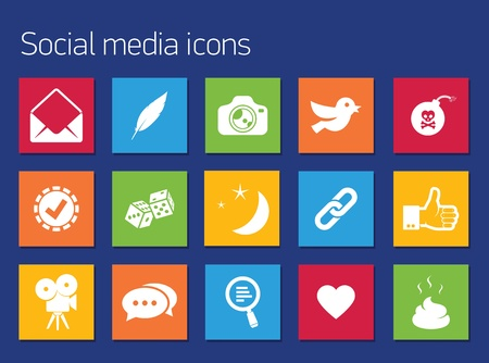 ivories: Communication icons set