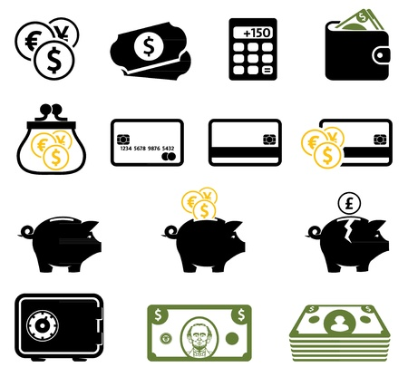 calculator money: money-icons Illustration