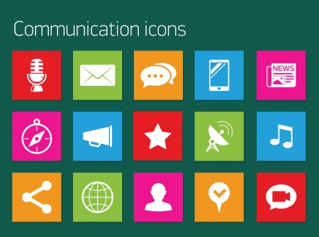 users video: Social media icons Illustration