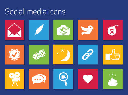 ivories: Communication icons set