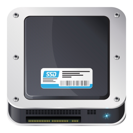 ios: Solid-state drive, le style iOS ic?ne Illustration