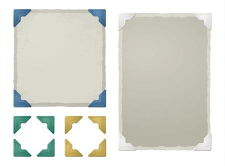 Vintage photo corners, frames