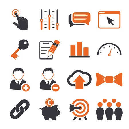 account management: SEO icons set