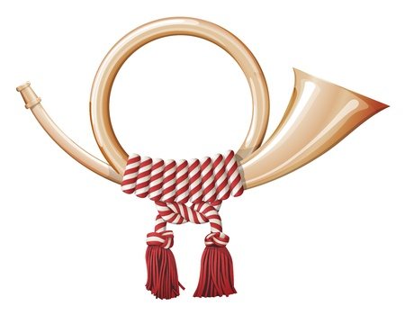 Post horn, symbol of national post service