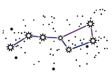 ursa: Simple drawing of constellation  Illustration
