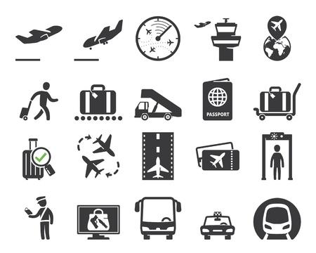 Iconos del aeropuerto establecen