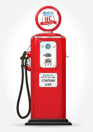 Gasoline pump retro design Vector