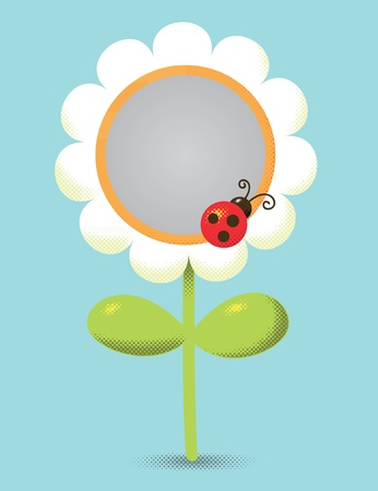 Flower-shaped frame for photography or design Vector