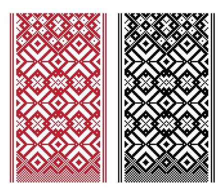 Geometrical knitting pattern, woven belt pattern