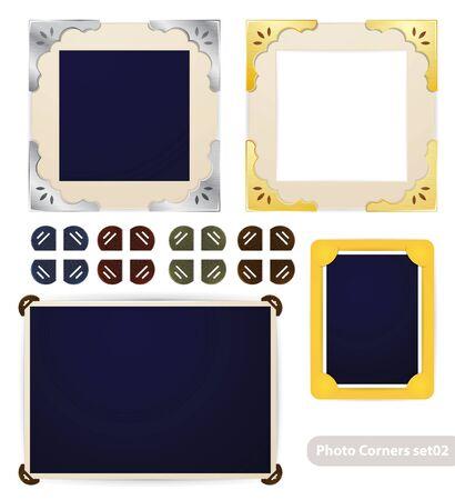 photo frame corner: Vintage photo frames and corners