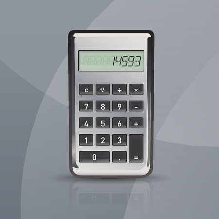 calculator on gray stylish background Stock Vector - 20654557