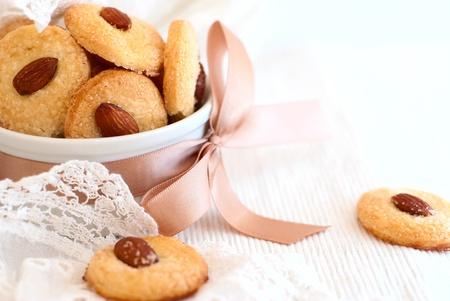 galletas: galleta de almendra Foto de archivo