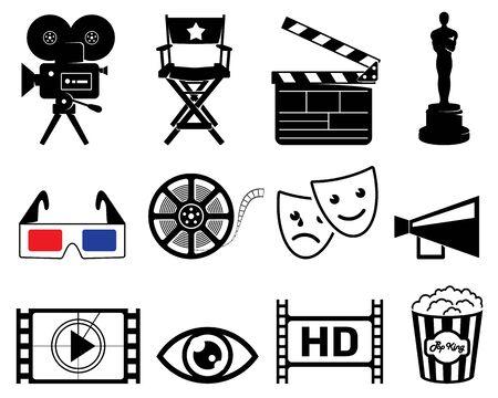 academy awards: Movie industry icons Stock Photo