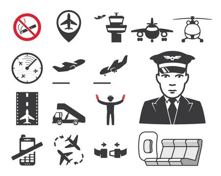 ramp: Airport icons set