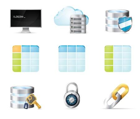 Data base icons set