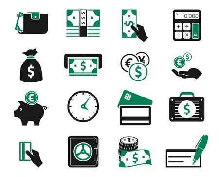 british money: Money icons set