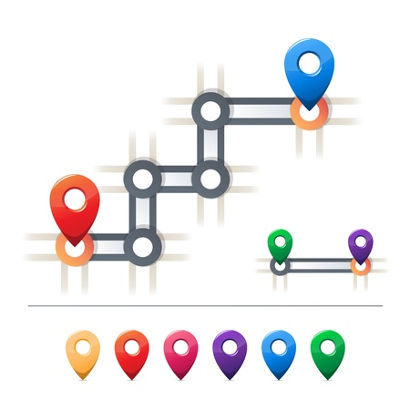 straight pin: Destination and map icons