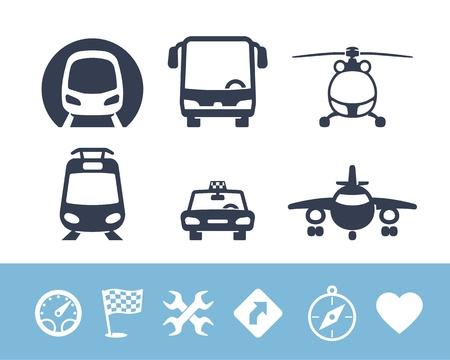 streetcar: Iconos del transporte fijados