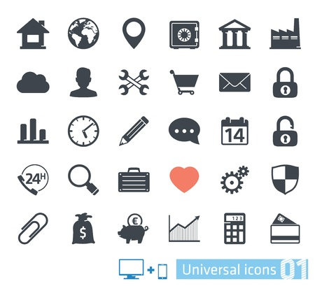 Universal icons set 01 Vector