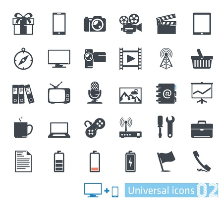 Universal icons set  02 Stock Vector - 20872532