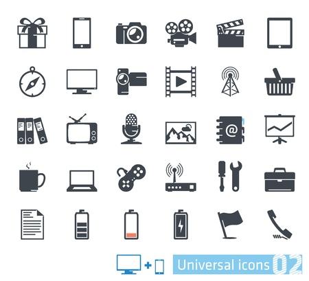 Universal icons set  02 Stock Vector - 20872532