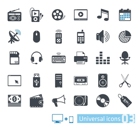 mp3 player: Universal icons set 03