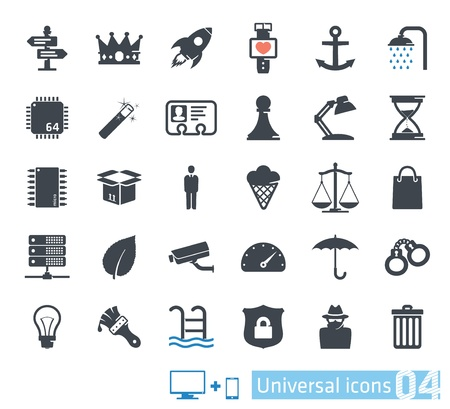 Universal icons set 04 Vector