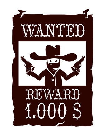 Wanted poster Illustration
