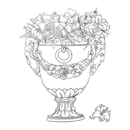 classicism: antique flowerpot