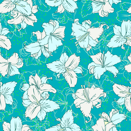 lilium: Seamless pattern with lilies