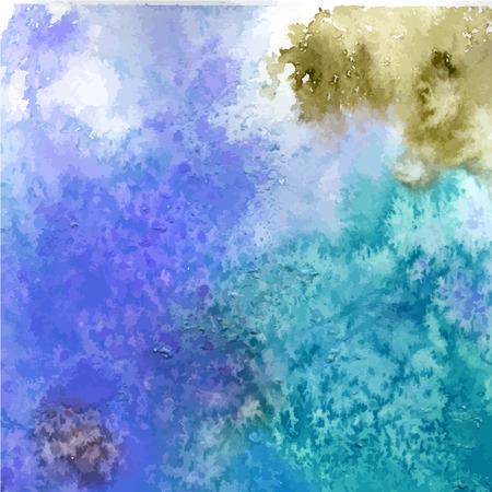 verde y morado: Fondo de acuarela abstracta. Papel pintado. Salpicaduras de colores brillantes en azul, verde, p�rpura. Grunge textura