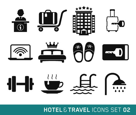 Hotel and Travel icons set 02