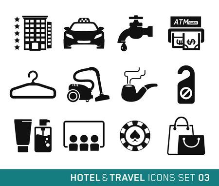 03: Hotel and Travel icons set 03 Illustration