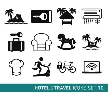 keycard: Hotel and Travel icons set 10