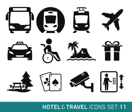 Hotel and Travel icons set 11 Vector