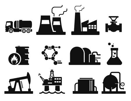 oil well: Iconos de gas y petr�leo establecieron 02