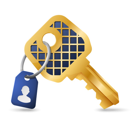 knickknack: Account security concept - gold vector key