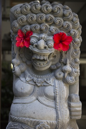 fringes: Balinese religious sculpture of demon