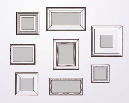 few: Set of vector frames, different design and sizes, blank