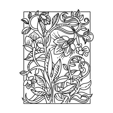 swill: Vintage floral design elements. Good for menu, notebook cover or invitation decoration. Illustration