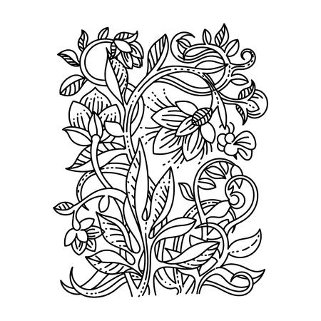 vintage floral: Vintage floral design elements. Good for menu, notebook cover or invitation decoration. Illustration