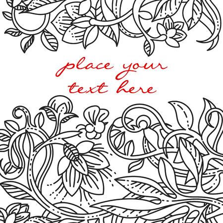 swill: Vintage floral design elements. Template for menu, notebook cover or invitation card