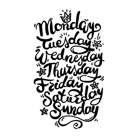 days: Hand Lettering Days of Week