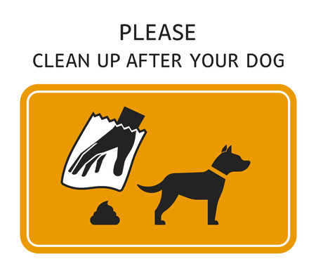 Sign template - Please clean up after your dog Фото со стока - 67658696
