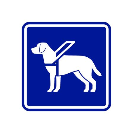Guide dog sign Illustration