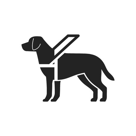 Guide dog sign Vectores