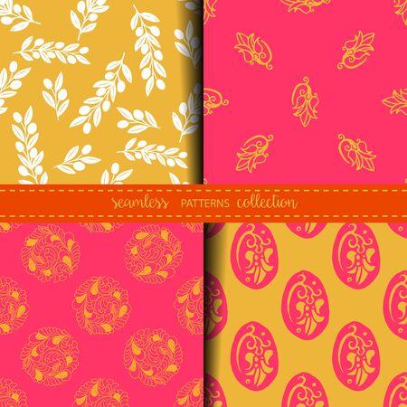Set of Eastern Seamless Patterns Illustration